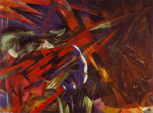 Franz Marc - Animal Destinies (The Trees Show their Rings, the Animals their Veins)