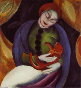 Franz Marc - Girl with Cat II