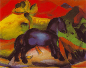 Franz Marc - The Little Blue Horse 1