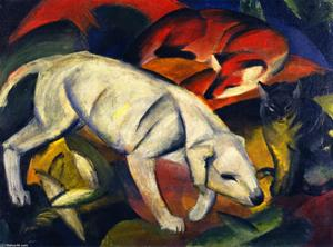 Franz Marc - Three Animals (Dog, Fox and Cat)
