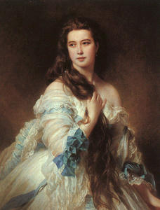 Franz Xaver Winterhalter - Portrait of Madame Barbe ..