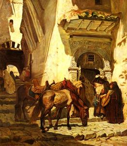 Frederick Arthur Bridgman - Near the Kasbah