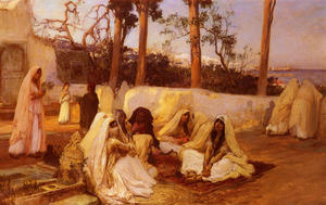 Frederick Arthur Bridgman - Women at the Cemetery, Al..