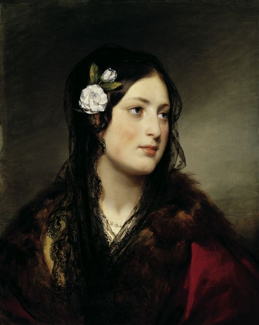 Buy Museum Art Reproductions : Portrait of Elise Kreuzbereger by Friedrich Ritter Von Amerling (1803-1887) | ArtsDot.com