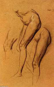 George Frederic Watts - Nude Studies Of Long Mary..