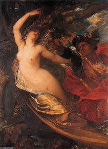 George Frederic Watts - Orlando Pursuing the Fata..