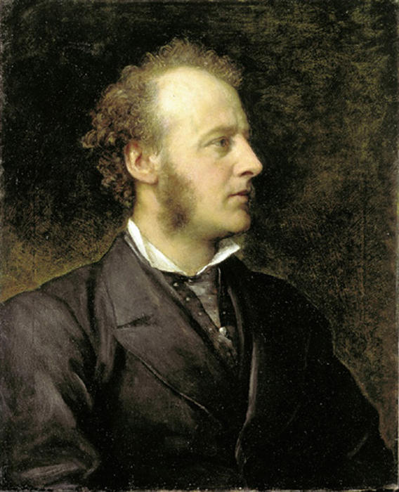 Portrait of Sir John Everett Millais by George Frederic Watts (1817-1904, United Kingdom) | Paintings Reproductions George Frederic Watts | ArtsDot.com
