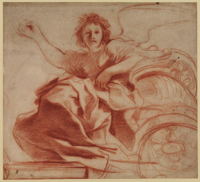 Aurora 1, Drawing by Guercino (Barbieri, Giovanni Francesco) (1591-1666, Italy)