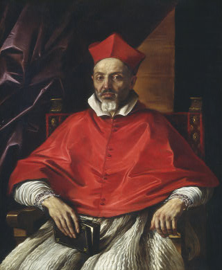 Cardinal Francesco Cennini, Oil by Guercino (Barbieri, Giovanni Francesco) (1591-1666, Italy)