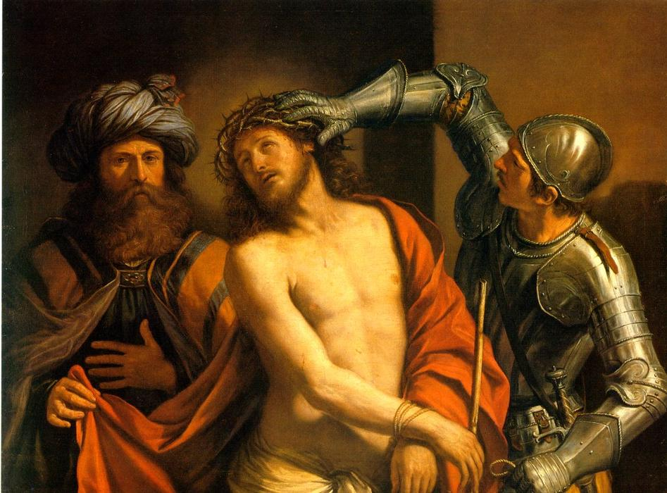 Ecce Homo, Oil by Guercino (Barbieri, Giovanni Francesco) (1591-1666, Italy)