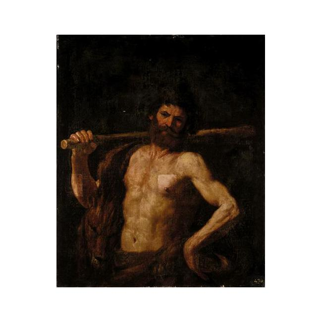 HERCULES, Oil by Guercino (Barbieri, Giovanni Francesco) (1591-1666, Italy)