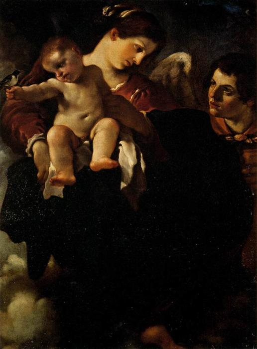 Madonna of the Swallow, Oil by Guercino (Barbieri, Giovanni Francesco) (1591-1666, Italy)