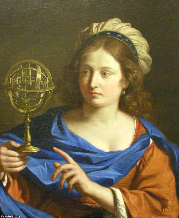 Personification of Astrology, Oil by Guercino (Barbieri, Giovanni Francesco) (1591-1666, Italy)