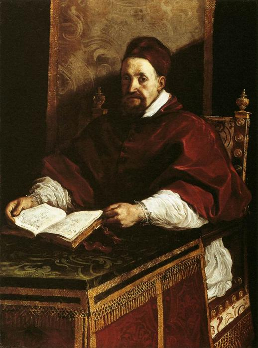 Portrait of Paul Gregory XV, Oil by Guercino (Barbieri, Giovanni Francesco) (1591-1666, Italy)