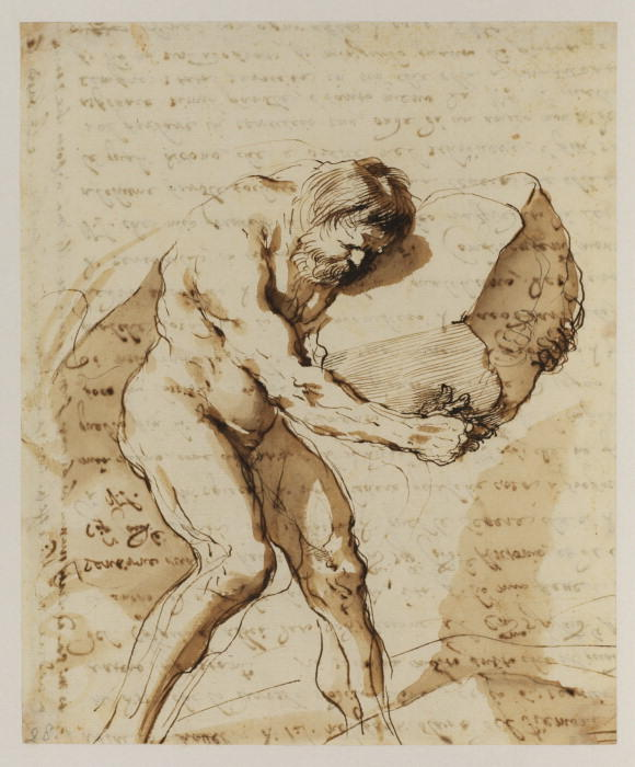 Sisyphus, Drawing by Guercino (Barbieri, Giovanni Francesco) (1591-1666, Italy)