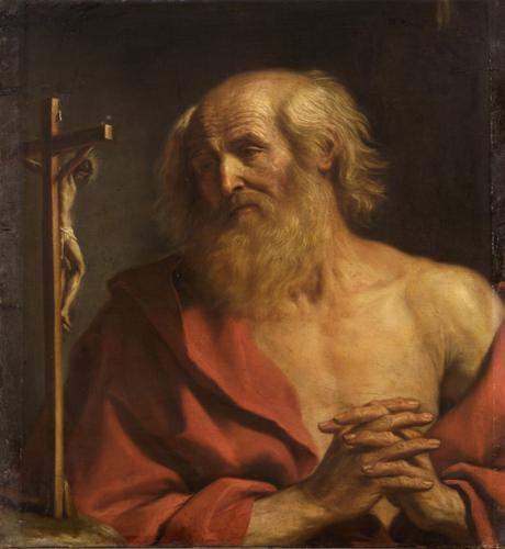 St. Hieronymus, Oil by Guercino (Barbieri, Giovanni Francesco) (1591-1666, Italy)