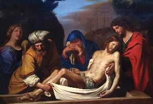 Guercino (Barbieri, Giovanni Francesco) - The Entombment of Christ