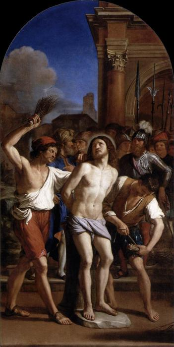 The Flagellation of Christ 1, Oil by Guercino (Barbieri, Giovanni Francesco) (1591-1666, Italy)