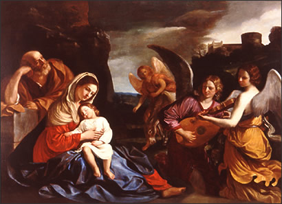 The Rest on the Flight into Egypt 1, Oil by Guercino (Barbieri, Giovanni Francesco) (1591-1666, Italy)