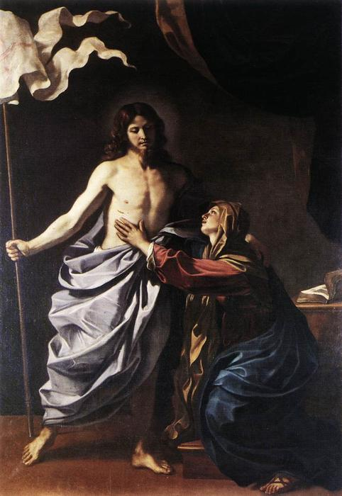 The Resurrected Christ Appears to the Virgin, Oil by Guercino (Barbieri, Giovanni Francesco) (1591-1666, Italy)