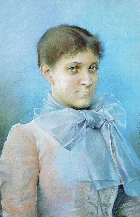 Aina Lille by Gunnar Berndtson (1854-1895, Finland) | Painting Copy | ArtsDot.com