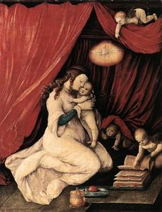 Hans Baldung - Virgin and Child in a Roo..