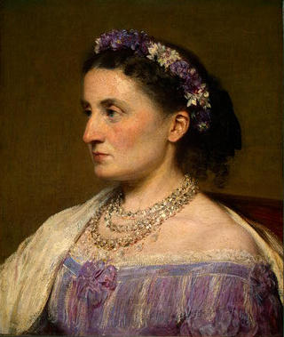 Duchess de Fitz-James, Oil by Henri Fantin Latour (1836-1904, France)