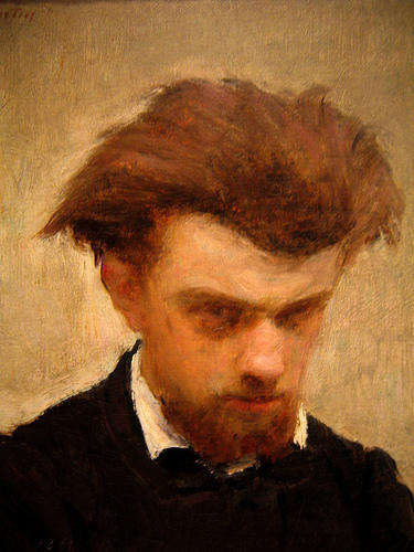 Self-Portrait 1, Oil by Henri Fantin Latour (1836-1904, France)