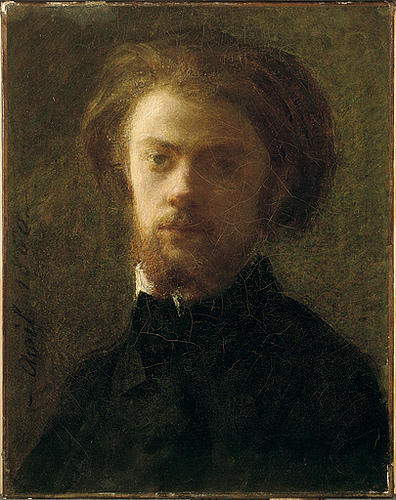 Self-Portrait, Oil by Henri Fantin Latour (1836-1904, France)