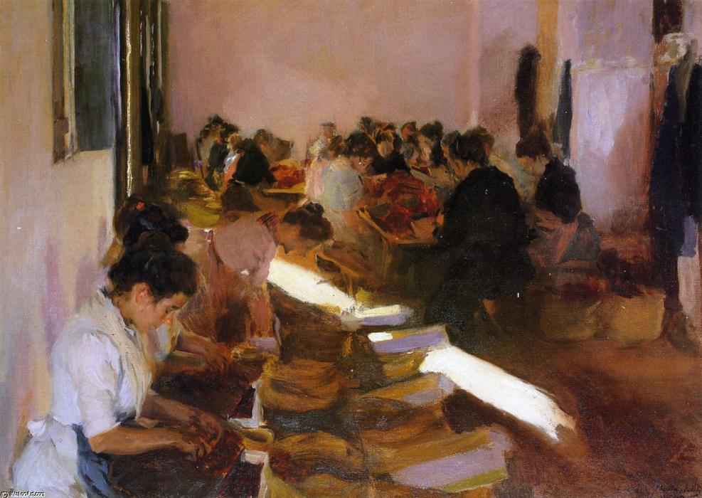 Encajonando Pasas, Javea, Oil On Canvas by Joaquin Sorolla Y Bastida (1863-1923, Spain)