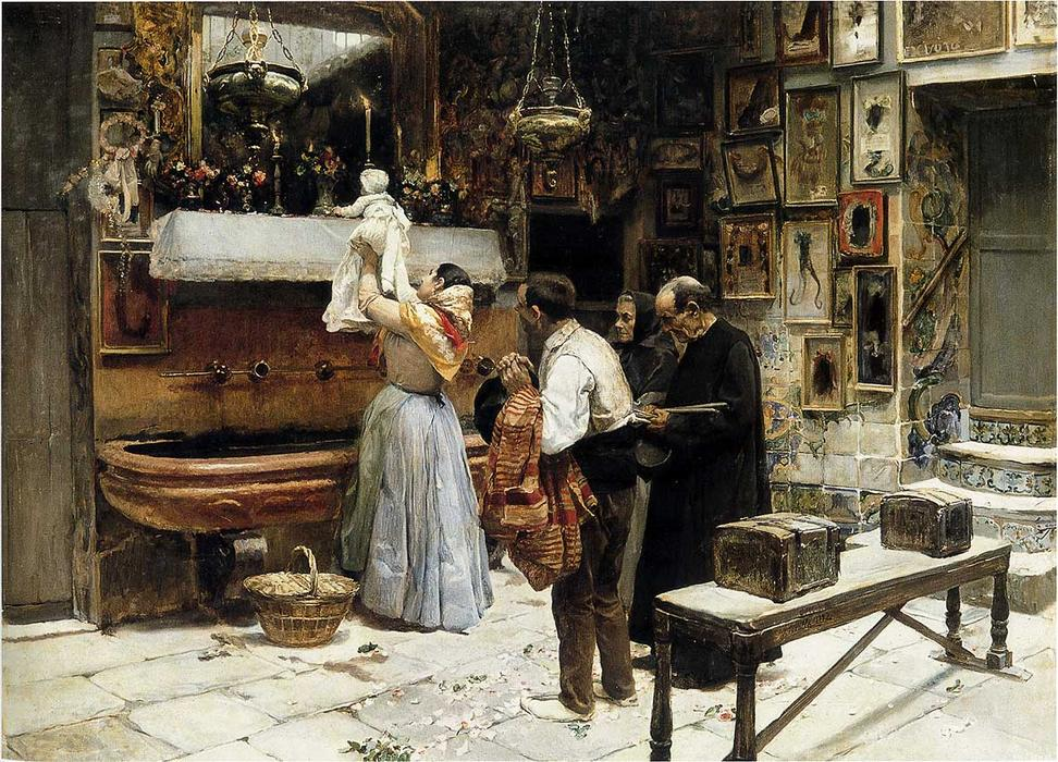 Ex Voto, Oil On Canvas by Joaquin Sorolla Y Bastida (1863-1923, Spain)