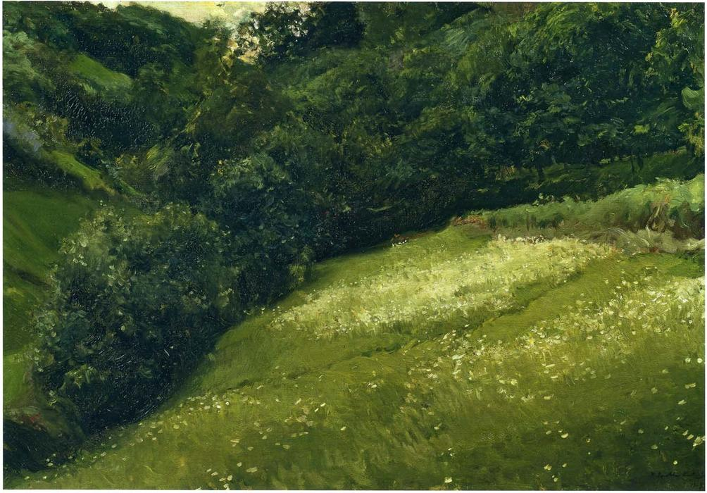 Field in Asturias, Oil On Canvas by Joaquin Sorolla Y Bastida (1863-1923, Spain)