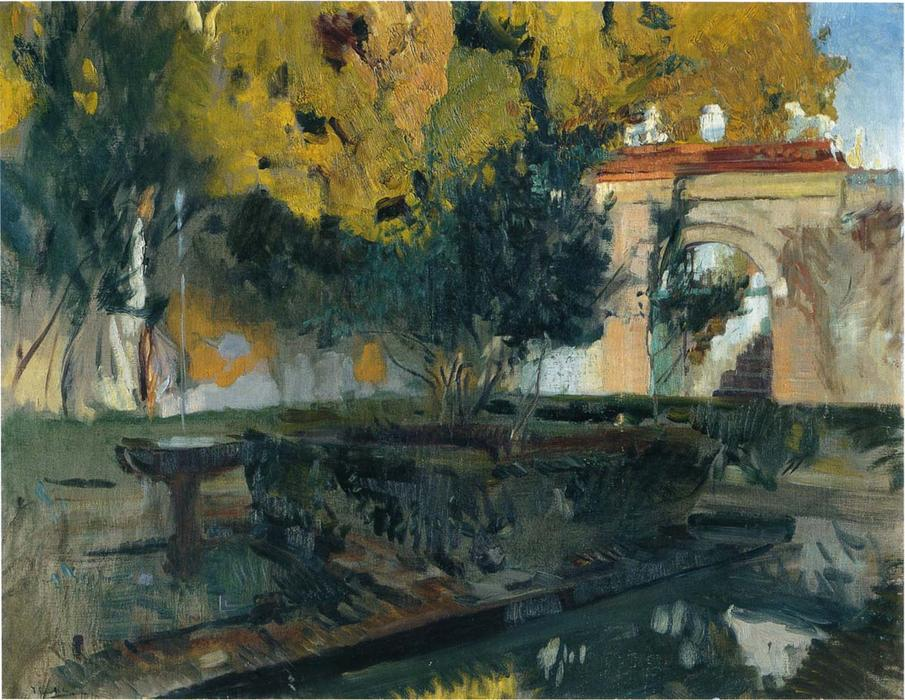 Generalife, Granada, Oil On Canvas by Joaquin Sorolla Y Bastida (1863-1923, Spain)
