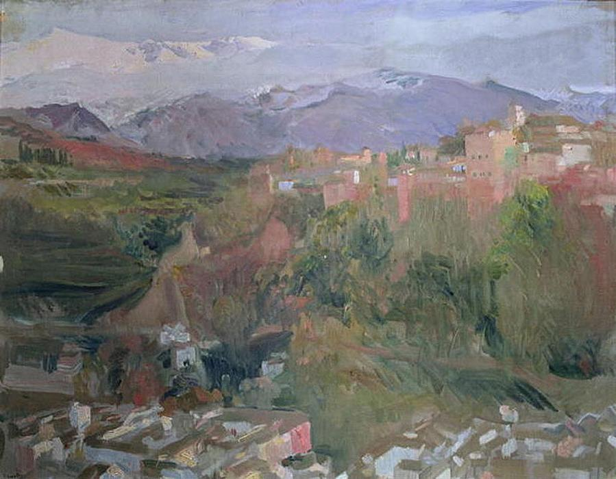 Granada, Oil On Canvas by Joaquin Sorolla Y Bastida (1863-1923, Spain)