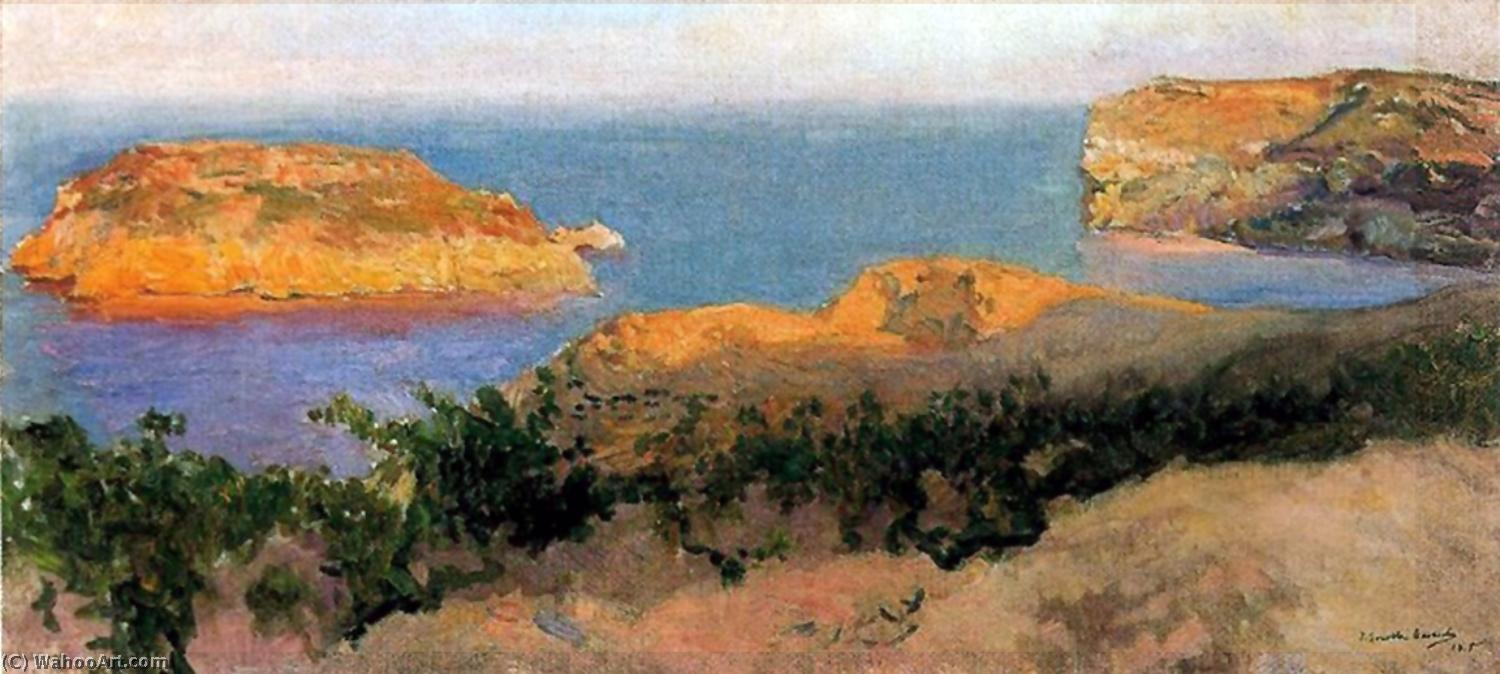 Isla del Cap Marti, Javea, Oil On Canvas by Joaquin Sorolla Y Bastida (1863-1923, Spain)