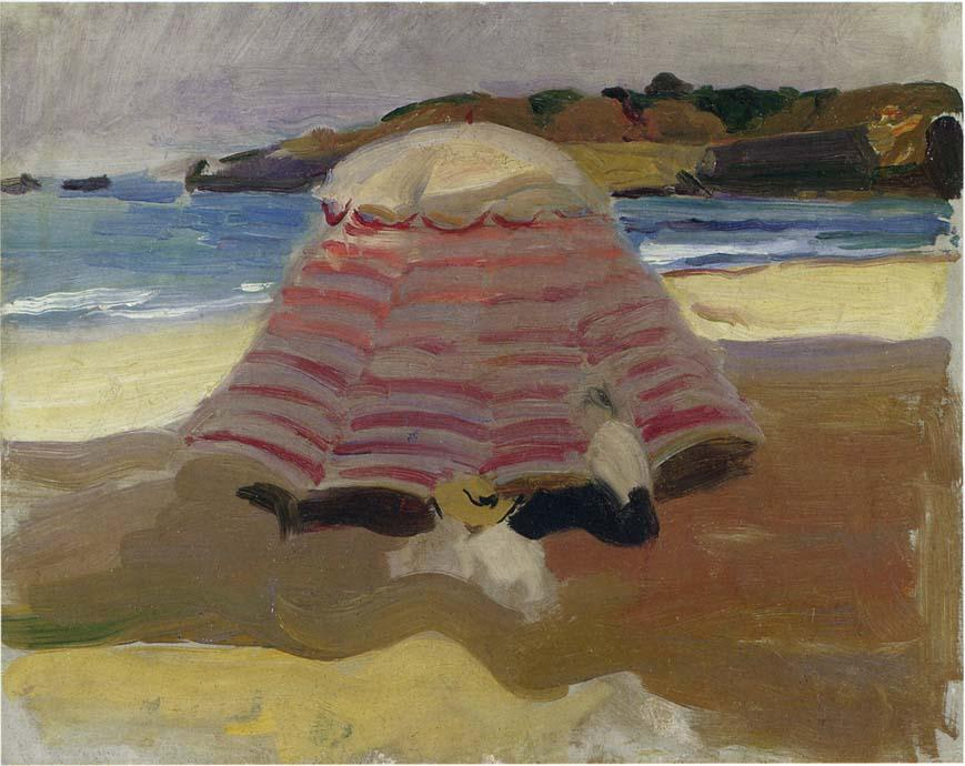 La Playa de Biarritz, Oil On Canvas by Joaquin Sorolla Y Bastida (1863-1923, Spain)