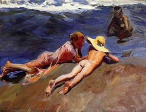 Joaquin Sorolla Y Bastida - On the Sand, Valencia Beach