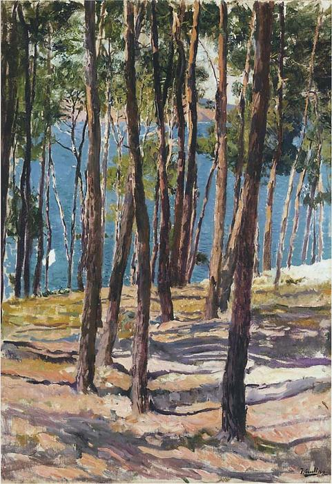 Pine Trees, Oil On Canvas by Joaquin Sorolla Y Bastida (1863-1923, Spain)