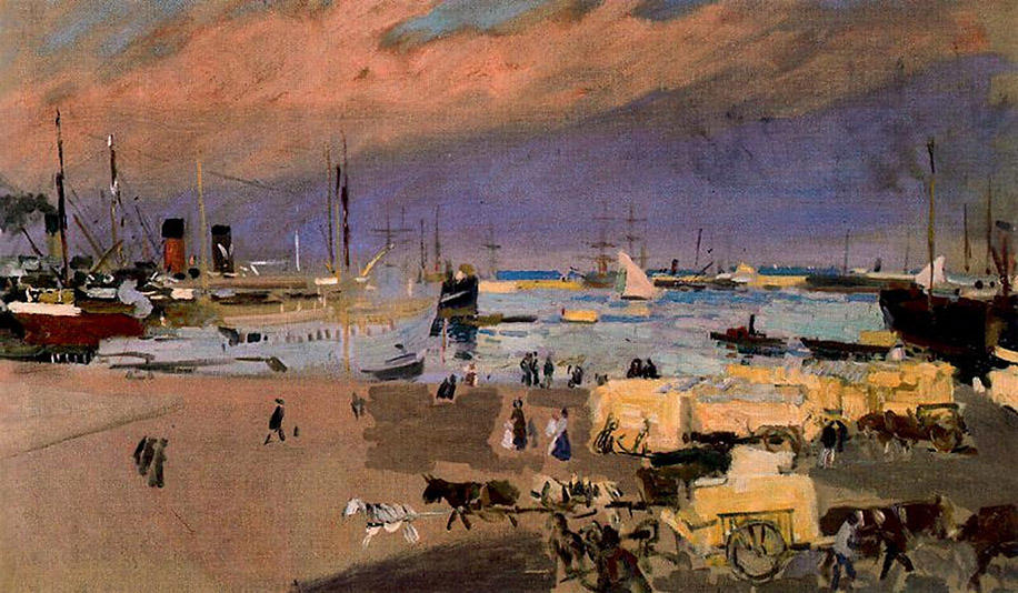 Port Valencia, Oil On Canvas by Joaquin Sorolla Y Bastida (1863-1923, Spain)