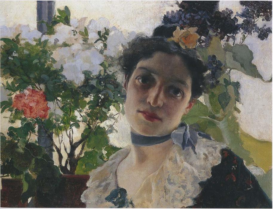 Portrait of Clothilde, Oil On Canvas by Joaquin Sorolla Y Bastida (1863-1923, Spain)