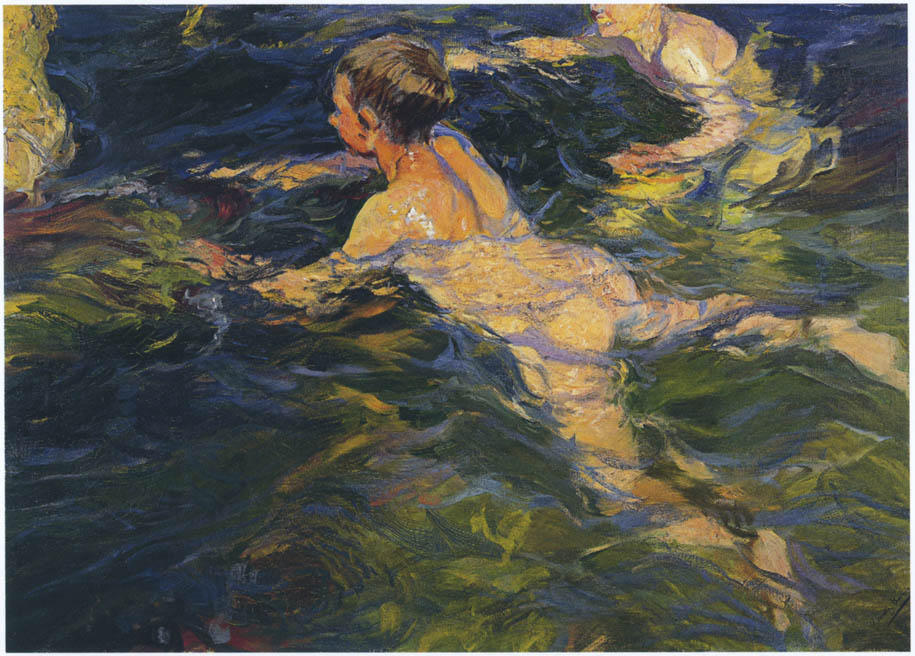 Swimmers, Javea, Oil On Canvas by Joaquin Sorolla Y Bastida (1863-1923, Spain)