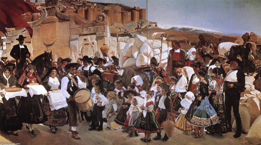 The Bread Fiesta (Castile), Oil by Joaquin Sorolla Y Bastida (1863-1923, Spain)