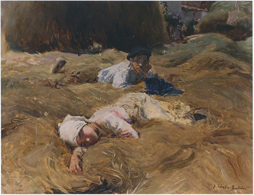 The nap, Asturias, Oil On Canvas by Joaquin Sorolla Y Bastida (1863-1923, Spain)