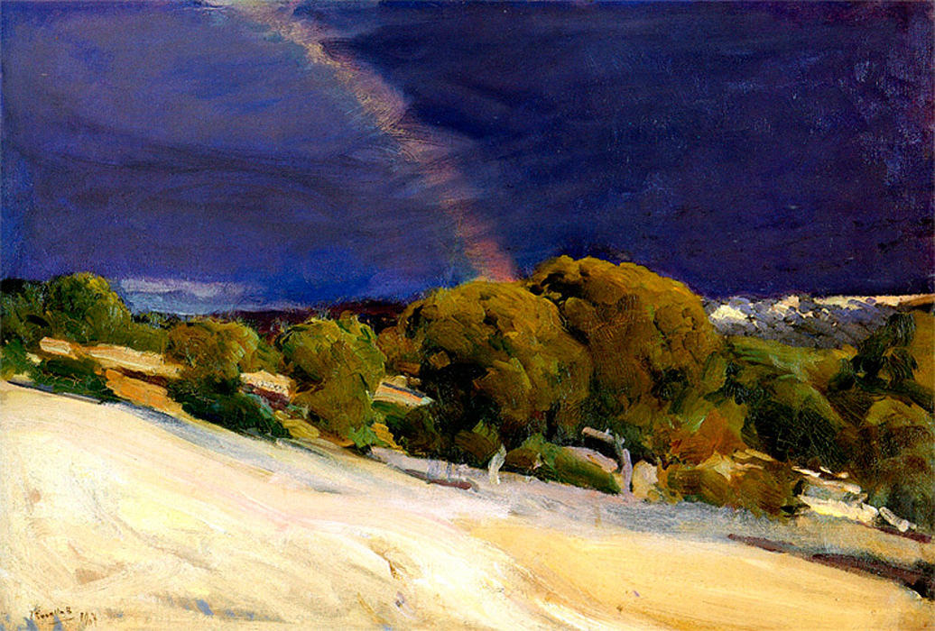 The Rainbow, Oil On Canvas by Joaquin Sorolla Y Bastida (1863-1923, Spain)