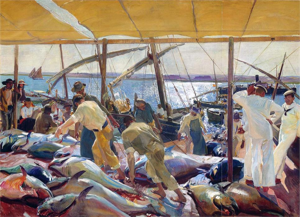The Tunny Catch, Oil On Canvas by Joaquin Sorolla Y Bastida (1863-1923, Spain)