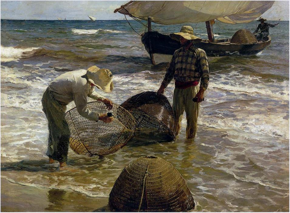 Valencian fisherman, Oil On Canvas by Joaquin Sorolla Y Bastida (1863-1923, Spain)