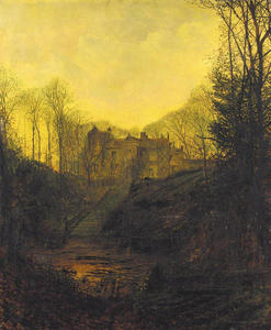John Atkinson Grimshaw - A Manor House in Autumn