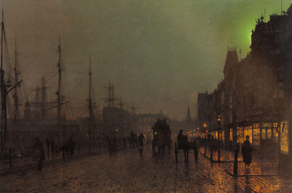 Gourock, Near The Clyde Shipping Docks by John Atkinson Grimshaw (1836-1893, United Kingdom)