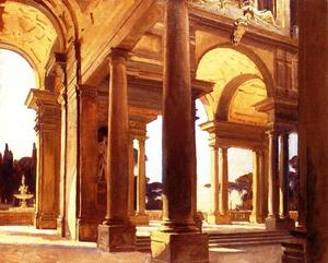 John Singer Sargent - A Study of Architecture, Florence