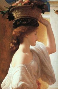 Lord Frederic Leighton - A Girl with a Basket of Fruit